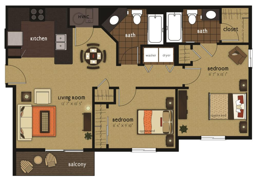 Gateway 2 bedroom scaled