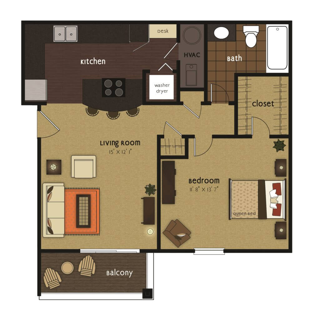 Glen 1 bedroom scaled