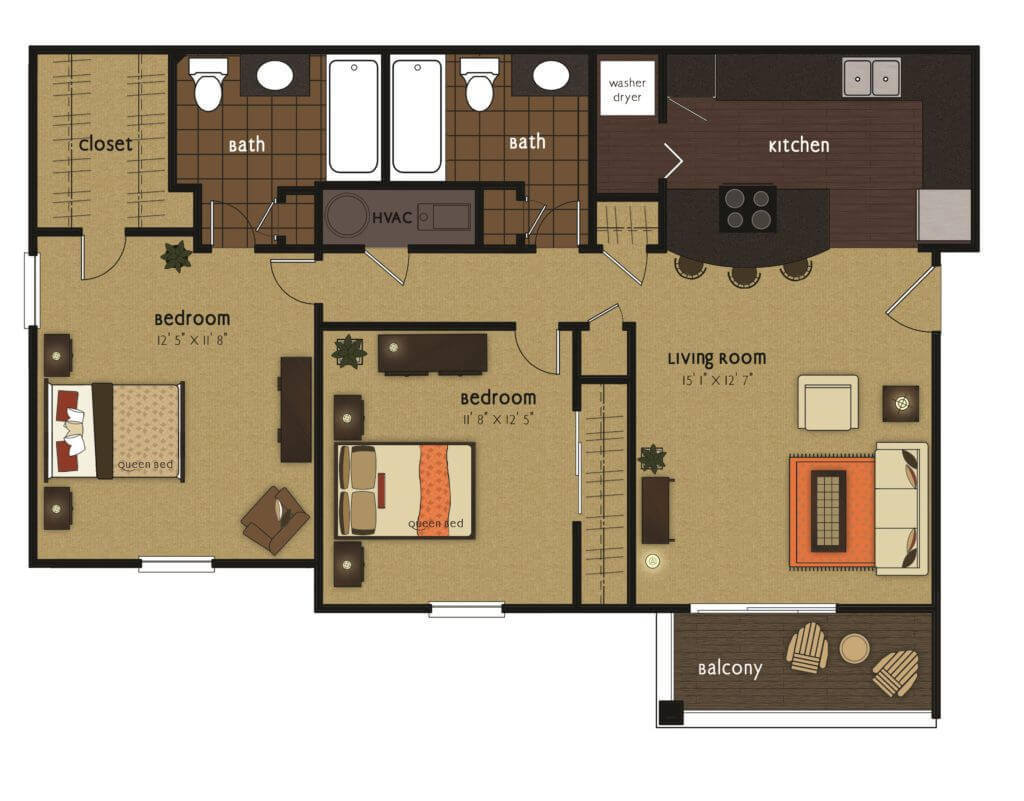 Lakeport 2 bedroom scaled