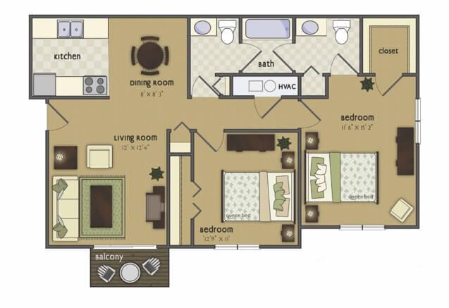 Orpheum 2 bedroom