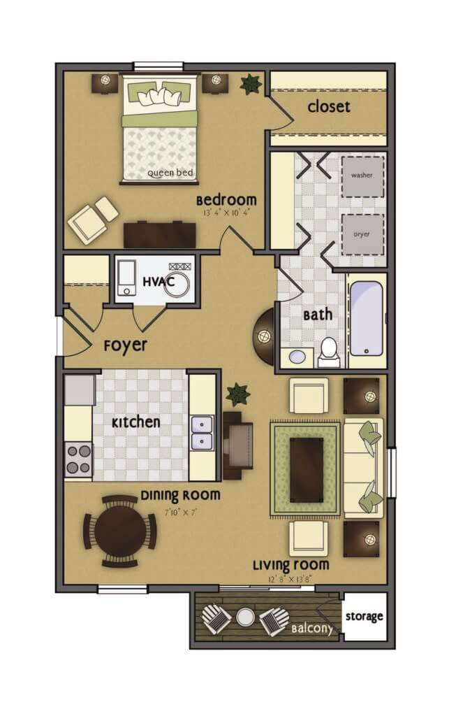 Sequoia 1 bedroom