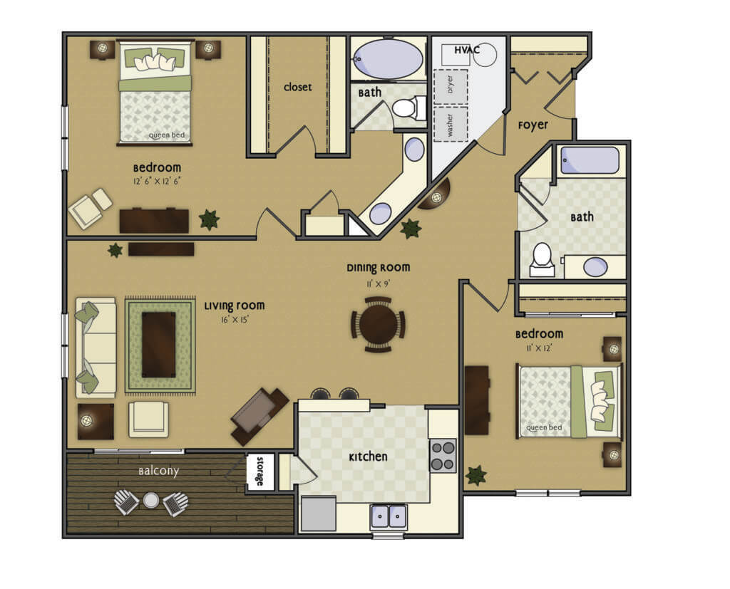 two bed 1313
